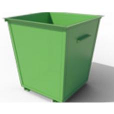 Зеленый мусорный контейнер